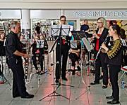 2019 Band clarinet quartet at Gatwick airport